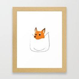 Fox in my pocket Framed Art Print