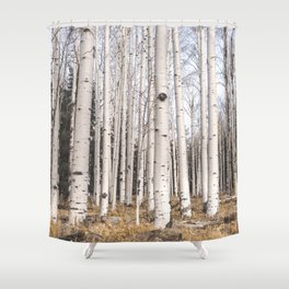 Trees of Reason - Birch Forest Shower Curtain