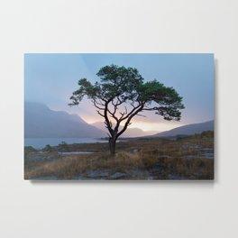 Sunrise by the loch Metal Print