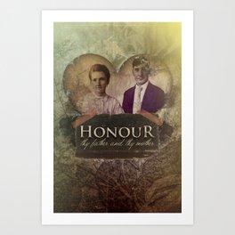 Commandment 5 - Honor Parents Art Print