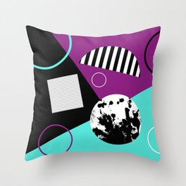 Bits And Bobs 2 - Abstract, geometric design Throw Pillow