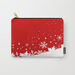 Red Snowflake Scene Carry-All Pouch