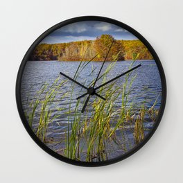 Hall Lake in Autumn Wall Clock