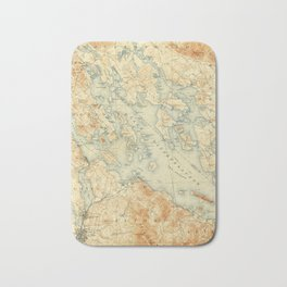 Vintage Map of Lake Winnipesaukee (1907) Bath Mat