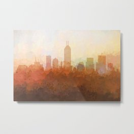 Indianapolis Skyline - In the Clouds Metal Print