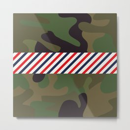 Barber Camo Pattern Metal Print