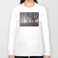forrest Long Sleeve T-shirts featuring Dark Forrest by Annette Jimerson
