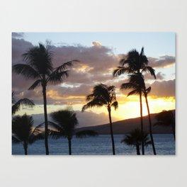 Sugar Beach Sunset Canvas Print