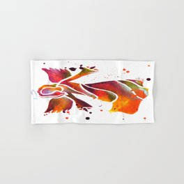 Colorful Angel Acrylic Abstract Painting by Saribelle Rodriguez Hand & Bath Towel