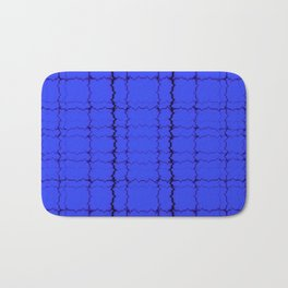 jagged, blue Bath Mat