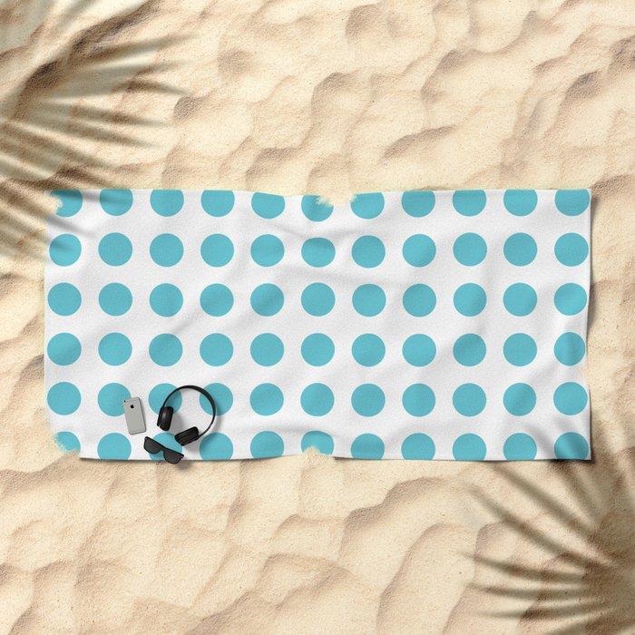 Simply Polka Dots in Seaside Blue Beach Towel