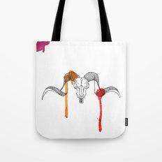 Line Skull 2 Colour Tote Bag