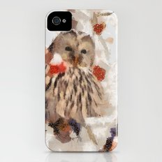 Abstract Colorful Bird Owl painting by M. Mishkova Slim Case iPhone (4, 4s)