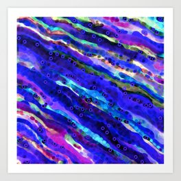 Beneath Blue Waves Art Print