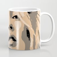 kate moss Mugs featuring KATE MOSS by Christophe Chiozzi