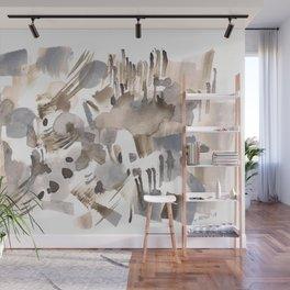 180630 Grey Black Abstract Watercolour Neutral 24 | Watercolor Brush Strokes Wall Mural