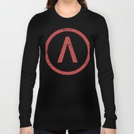 Red Sparta Lambda Symbol Long Sleeve T-shirt