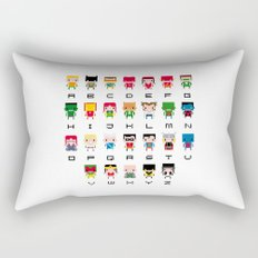 Superhero Alphabet Rectangular Pillow