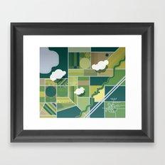 30,000 ft. Framed Art Print