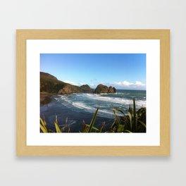 Muriwai, New Zealand Framed Art Print