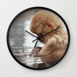 Bath time. Snow Monkey, Japan Wall Clock