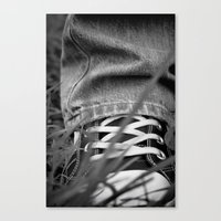 sneakers Canvas Prints featuring Sneakers by Fine2art