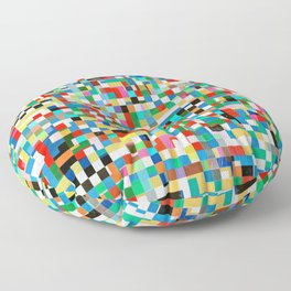 Messy Mosaic Floor Pillow