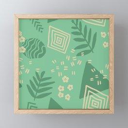 Deco Conservatory - Aloe Green Framed Mini Art Print