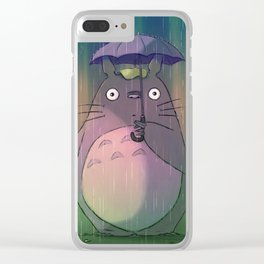 My Neighbor by Big Foot Studios Clear iPhone Case