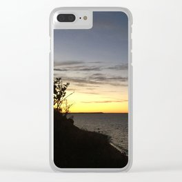 Bay Sunset from Above Clear iPhone Case