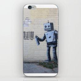 Banksy Robot (Coney Island, NYC) iPhone Skin