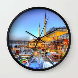 Picturesque Istanbul Wall Clock