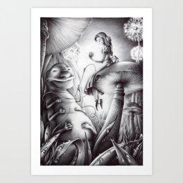 Alice e il Brucaliffo Art Print