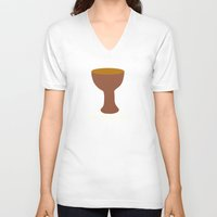 indiana jones V-neck T-shirts featuring Indiana Jones - You Chose Wisely by Swell Dame