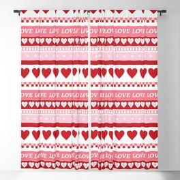 Valentine's Day - Love Pattern Blackout Curtain