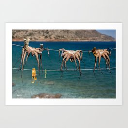 octopodes hanging out Art Print