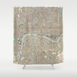 Vintage Map of London England (1862) Shower Curtain