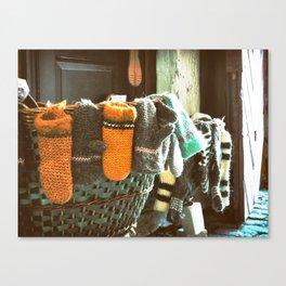 Woolen Mittens Canvas Print