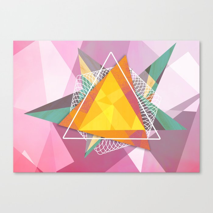 Tangled triangles Canvas Print