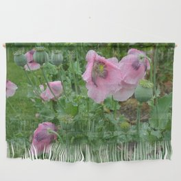 Poppies in rain Wall Hanging