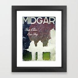 Final Fantasy VII - Midgar Tribute Poster *Distressed* Framed Art Print