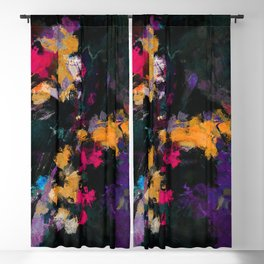 Purple and Yellow Abstract / Surrealist Painting Blackout Curtain