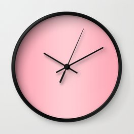Pink to Pastel Pink Vertical Bilinear Gradient Wall Clock