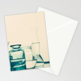 Crystal jars and bottles (Retro and Vintage Still Life Photography) Stationery Cards
