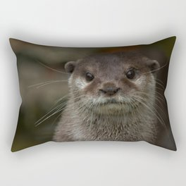 Curious Otter Rectangular Pillow