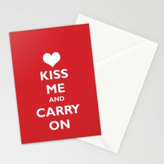 Kiss Me and Carry On Stationery Cards