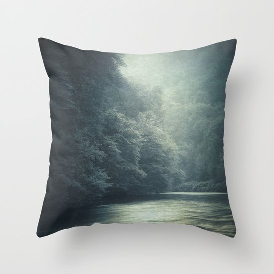 mystery river Throw Pillow