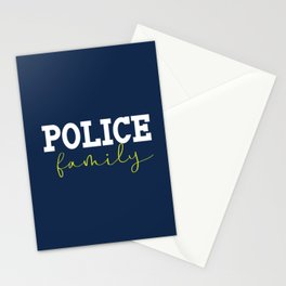 Police Family Stationery Cards