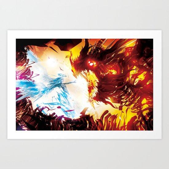 A Dragon Taught me Fire Art Print