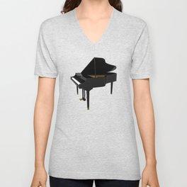 Grand Piano Unisex V-Neck